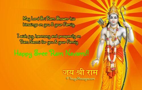 Sri Ram Navami Wishes in English
