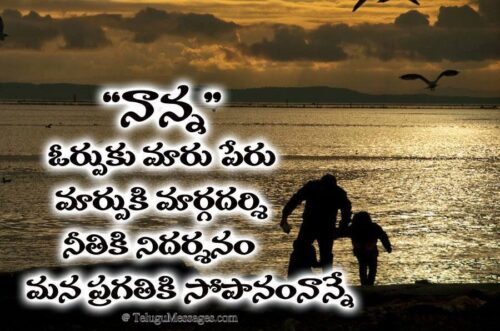 Best Inspirational Telugu Quote on Father