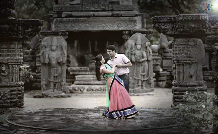 Lovers Pose at Temple