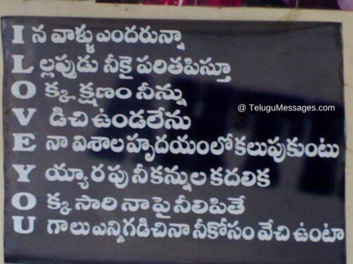 I Love You Telugu Quote