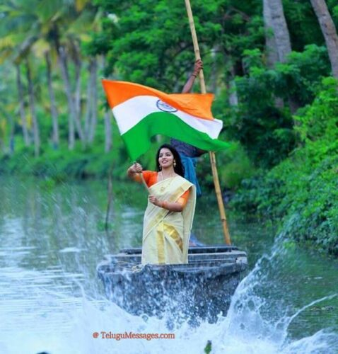 Lady-with-indian-flag