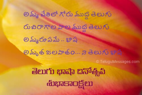 Telugu Language Day Wishes