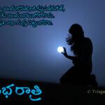 Telugu Inspirational Good Night Quote on Hardwork