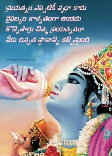 Bhagavad Gita Life Lesson Quotes in Telugu