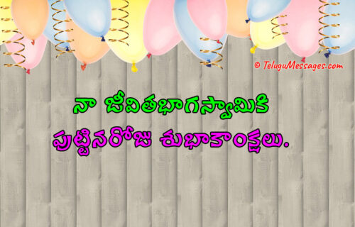 Birthday Wishes to Husband in Telugu