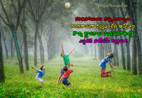 Heart Touching Childhood Friendship Quotes in Telugu