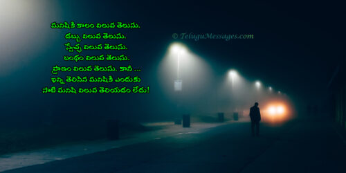 Know the value of others - Life Quote in Telugu